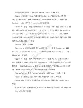 抗遗忘英语单词速记16(高中版).doc