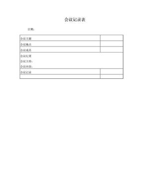 现场会议记录表.doc