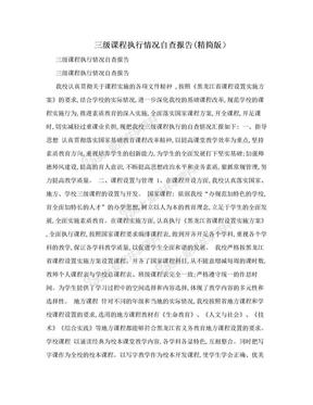 三级课程执行情况自查报告(精简版).doc