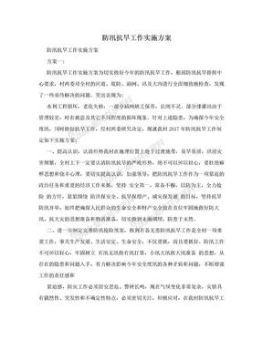 防汛抗旱工作实施方案.doc