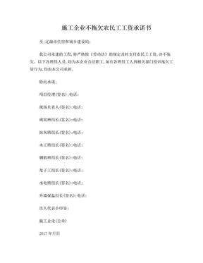 2017施工企业不拖欠农民工工资承诺书(班组).doc