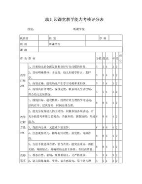 幼儿园课堂评价表.doc