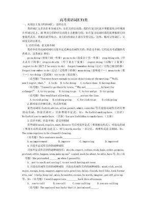 高考英语词汇归类