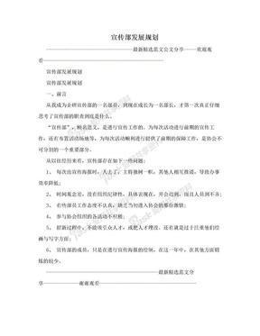 宣传部发展规划.doc