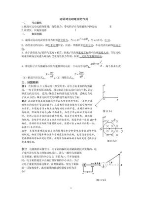 磁场对运动电荷的作用.doc