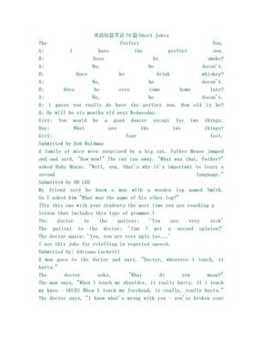 英语短篇笑话70篇.doc
