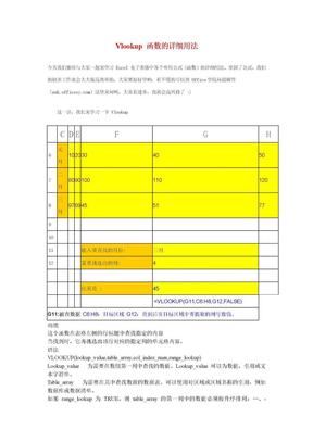 Vlookup 函数的详细用法.doc