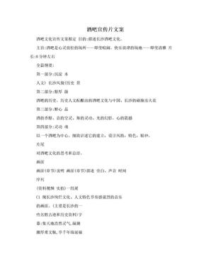酒吧宣传片文案.doc