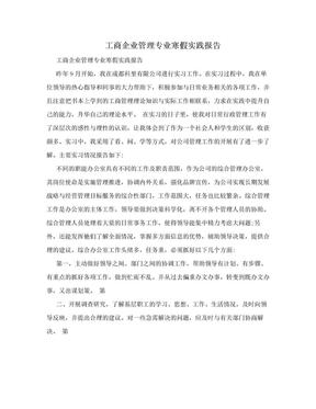 工商企业管理专业寒假实践报告.doc