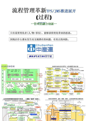 《流程管理革新-TPS-JMS推进展开》(ppt).ppt