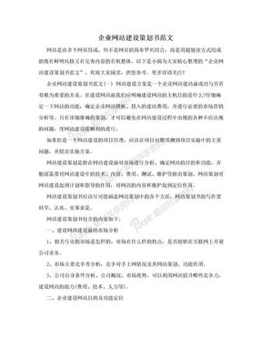 企业网站建设策划书范文.doc