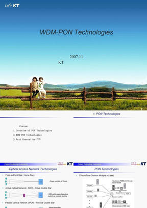 WDM-PON TECHNOLOGIES.ppt