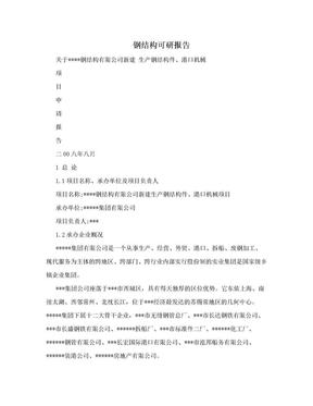 钢结构可研报告.doc