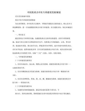中医院重点中医专科建设发展规划.doc