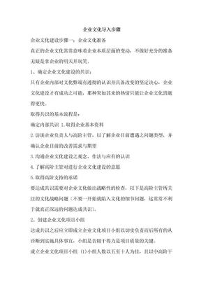 企业文化导入步骤(参考).doc