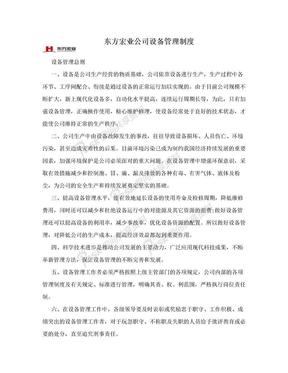 东方宏业公司设备管理制度.doc