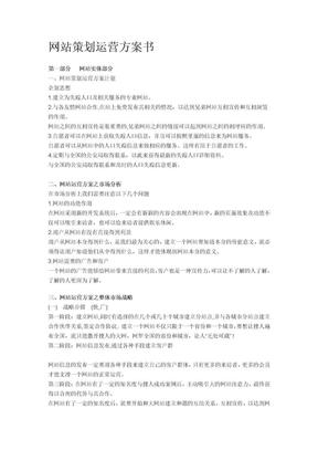 网站策划运营计划书.doc
