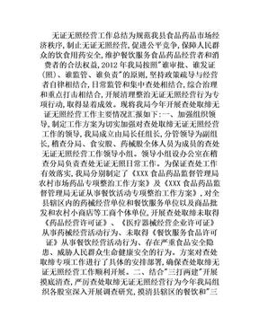 无证无照经营工作总结.doc