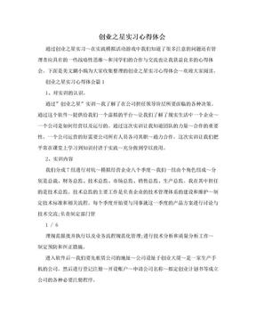 创业之星实习心得体会.doc