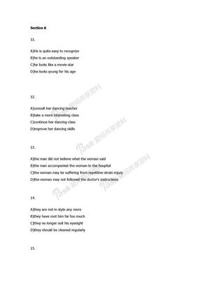 2008年12月英语六级听力原文 及答案.doc