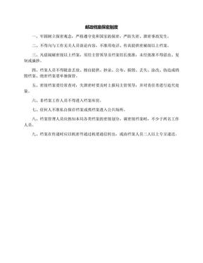 邮政档案保密制度.docx