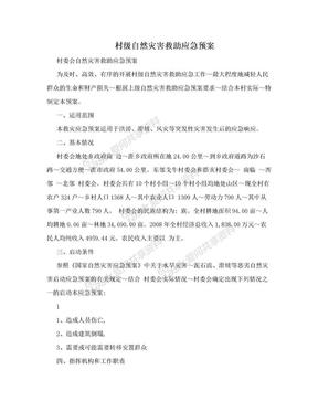 村级自然灾害救助应急预案.doc