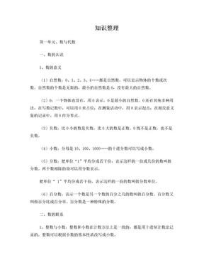 苏教版六年级数学小升初知识点整理.doc