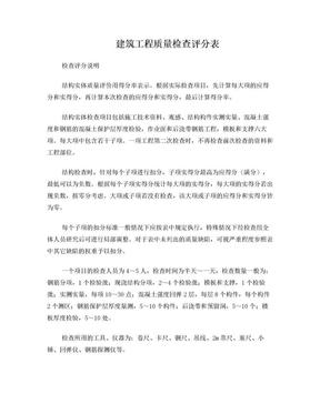 建筑工程质量检查评分表[1].doc