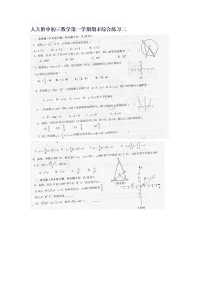 人大附中初三数学第一学期期末综合练习二.doc
