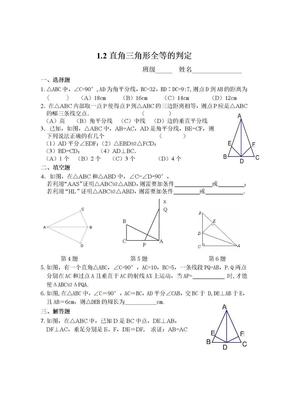 1.2 直角三角形全等的判定 同步练习.doc