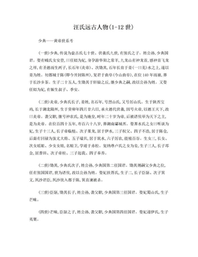 汪氏远古人物(1-12世).doc