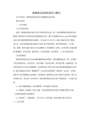 新媒体运营岗位的实习报告.doc