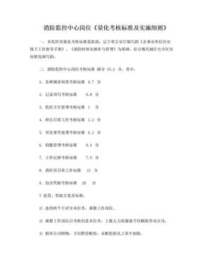 消防监控中心岗位《量化考核标准及实施细则》.doc
