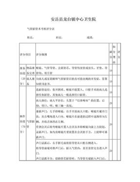 气管插管术操作考核 评分标准.doc