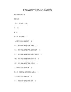 中国页岩油中长期发展规划研究.doc