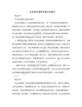 义务教育课程实施自查报告.doc