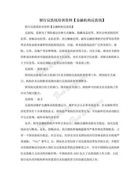 银行反洗钱培训资料【金融机构反洗钱】.doc
