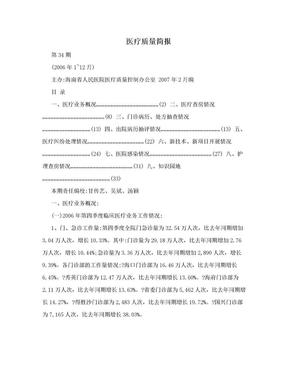 医疗质量简报.doc