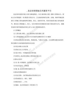 .北京市招投标公共服务平台.doc
