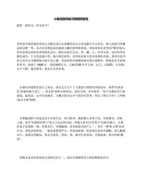 小数民族风俗习惯调研报告.docx