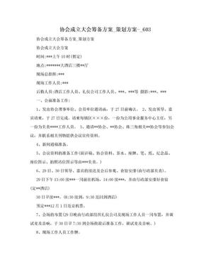 协会成立大会筹备方案_策划方案-_603.doc