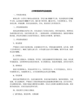 小学教育督导评估自查报告.docx