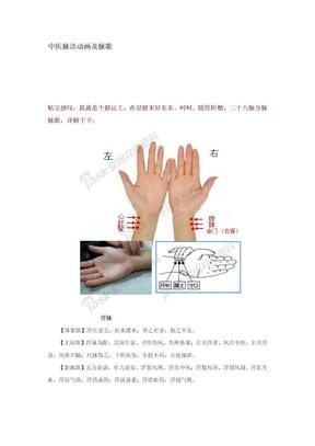 中医脉诊动画及脉歌.docx