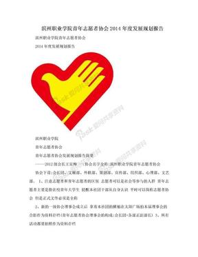 滨州职业学院青年志愿者协会2014年度发展规划报告.doc