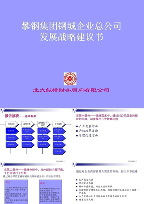 XX集团钢城企业总公司发展战略建议书.ppt