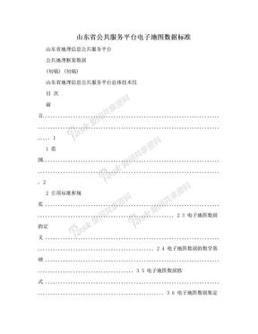 山东省公共服务平台电子地图数据标准.doc