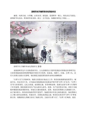 清明节关于缅怀革命先烈的作文.docx