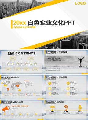 白色企业文化PPT模板.pptx