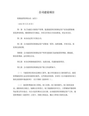 建设项目转固定资产管理办法(试行).doc