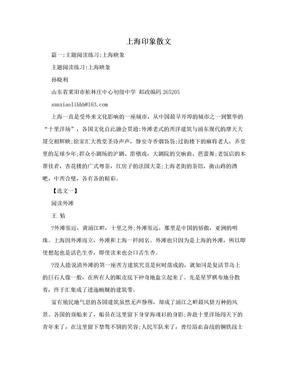 上海印象散文.doc